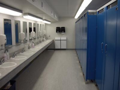 guide to dorm life the bathroom campus basement. Black Bedroom Furniture Sets. Home Design Ideas