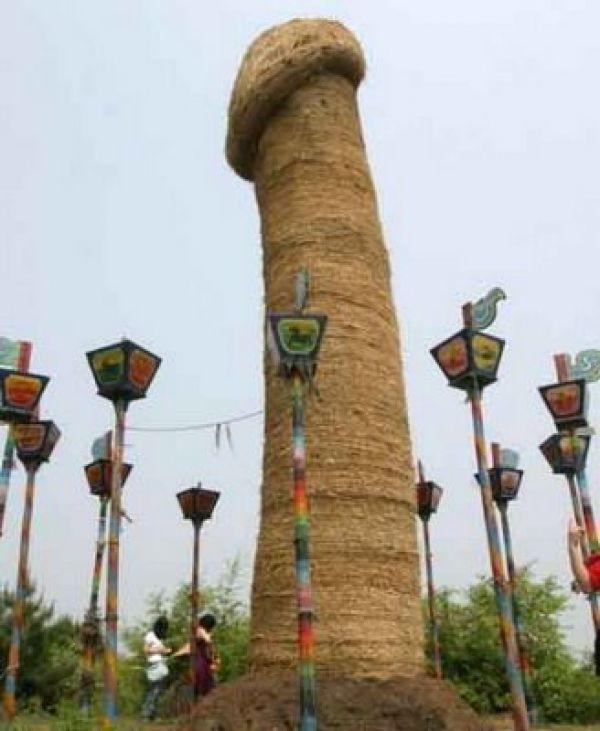 В китайском Луна-парке возвышается самый большой в мире член.