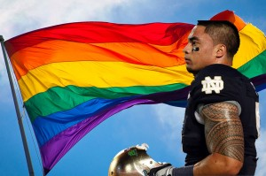 The gay community has come out publicly in its support of Notre Dame linebacker Manti Te'o.